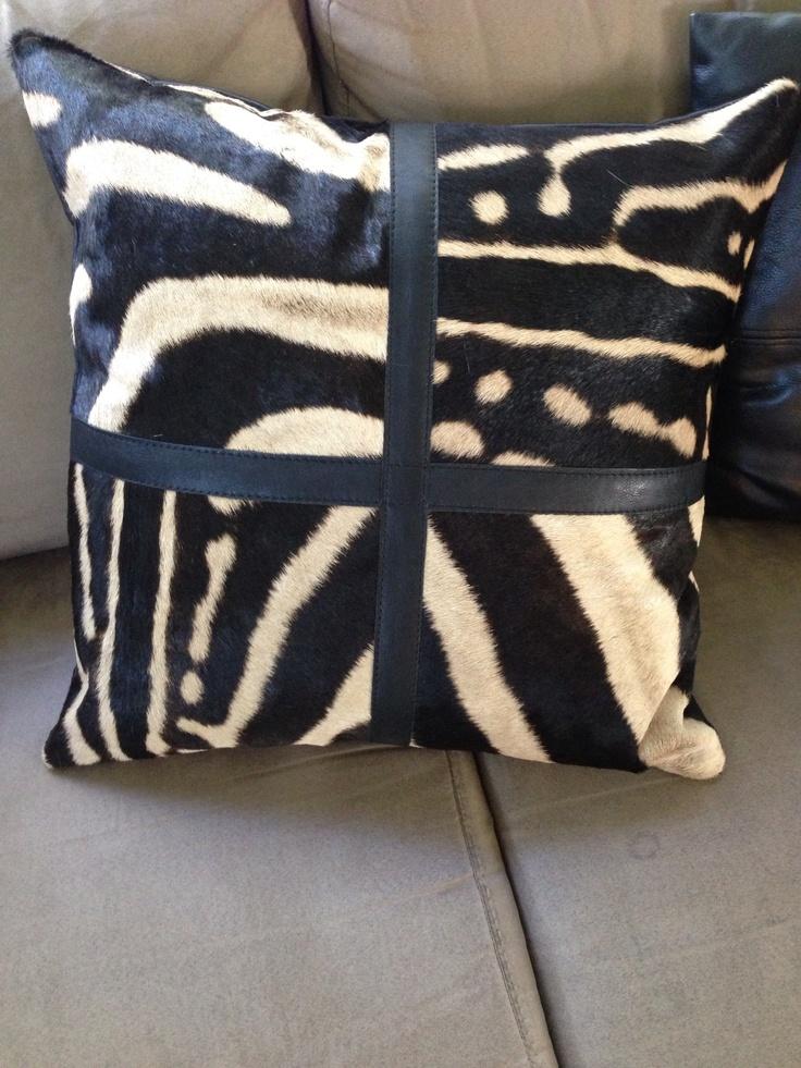 Awesome, Zebra hide cushion!