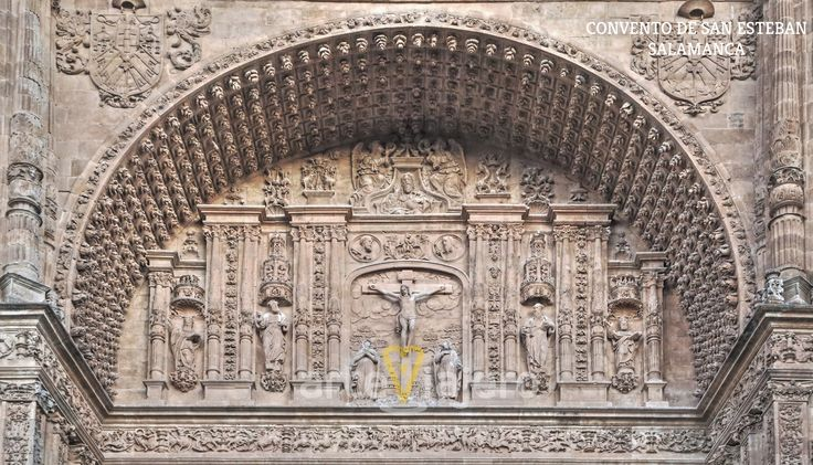 Detalle escultórico del Convento de San Esteban #Salamanca http://arteviajero.com/ #plateresco #renacimiento