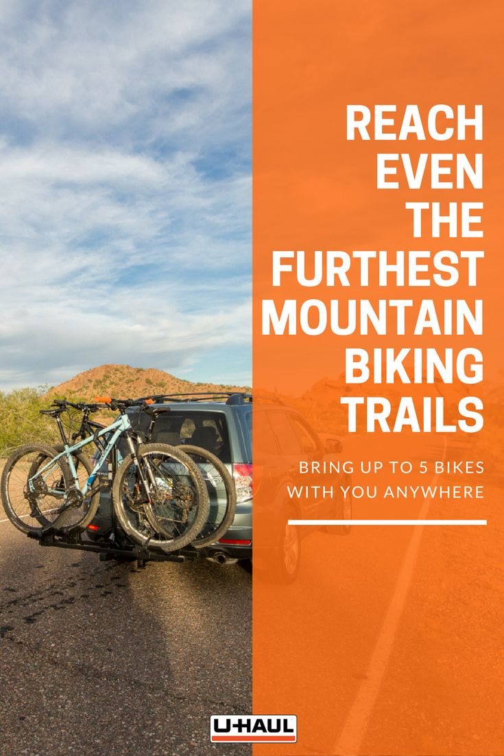 Reach even the furthest mountain biking trails or triathlon events with a bike rack. Carry up to 5 bikes at once anywhere by simply connecting bicycles to your hitch mounted bike rack. With bikes on your hitch, space in your truck is reserved for travel luggage, biking helmets, water bottles or other sporting gear. I Biking