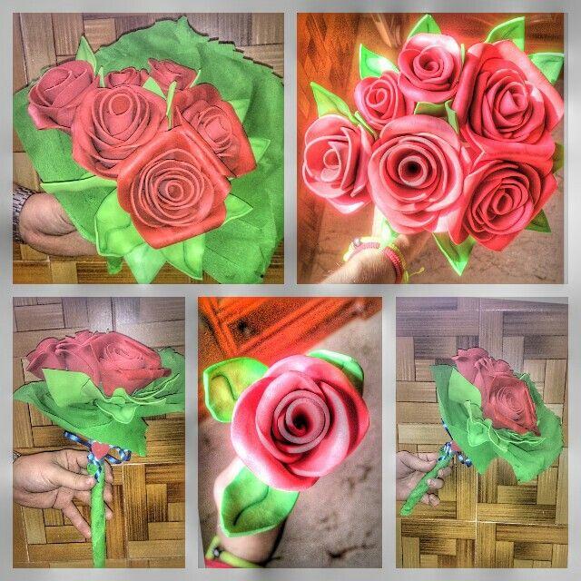 Ramo de rosas en goma eva/foami/fomi | Goma eva | Pinterest