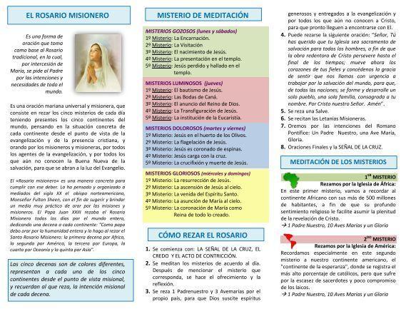 Anexo 2 El Rosario Misionero Pdf El Salvador Misionero Rosario Misionero Rosarios Misionero