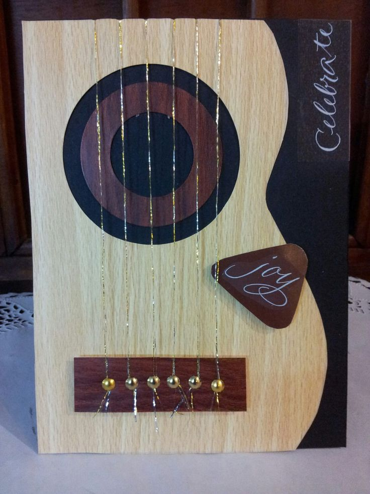 Card Making Ideas For Men Part - 39: Loved Making This Card So Much Fun! Guitar Card By Kerry Angel, The  Woodgrain