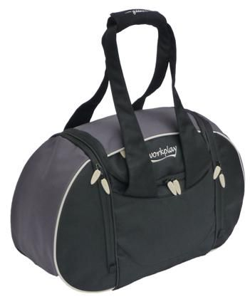 Gym bag - lots of pockets! Space for dirty clothes, shoes, wash stuff. Awesome! bit big?