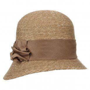 Damenhafte Glockenhüte aus Stroh. Leichte Bortenhüte für Damen.