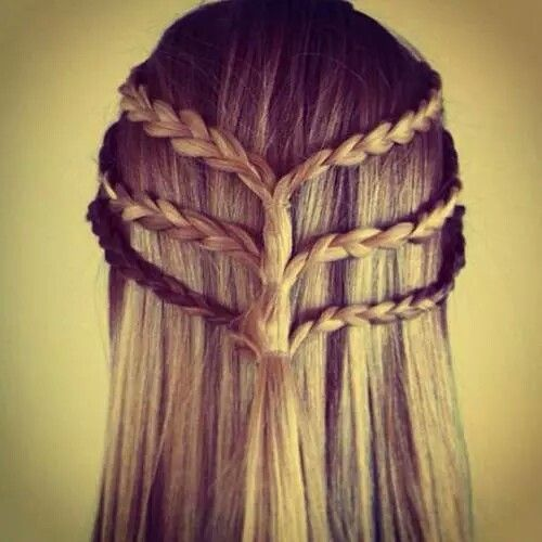 Peinado suelto con trenza