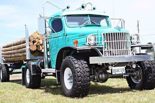 "rollerman1: ""Custom Dodge Power Wagon log hauler """