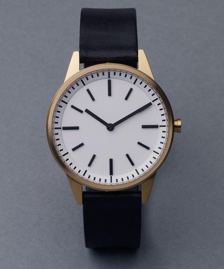 251 Series (Satin Gold / Black Leather) | Uniform Wares