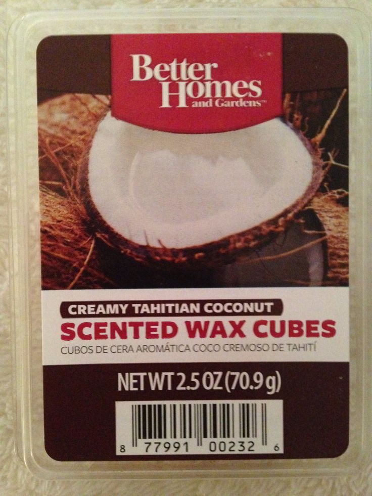 Better homes and garden creamy tahitian coconut wax cubes - Better homes and gardens scented wax cubes ...
