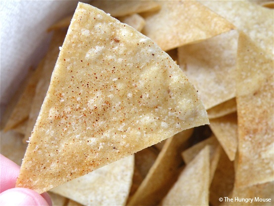 Easy Baked Corn Tortilla Chips Dusted with Spicy Chipotle Salt