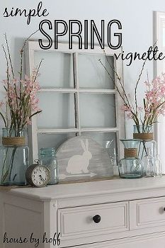 Simple Easter Home Decoration Ideas and Projects via Hometalk with rustic furniture and a window