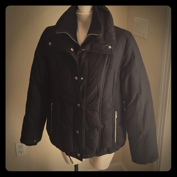 michael michael kors coat jacket a really warm and versatile black mk winter jacket coat. Black Bedroom Furniture Sets. Home Design Ideas