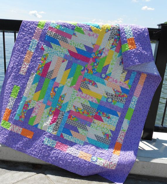 Easy PDF INSTANT DOWNLOAD Layer Cake Quilt by LittleLouiseQuilts