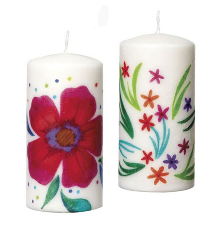 Transfer Art Candles