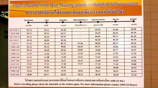 From Don Mueang to Bkk railway