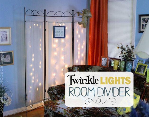 Twinkle+Lights+Room+Divider+Makeover