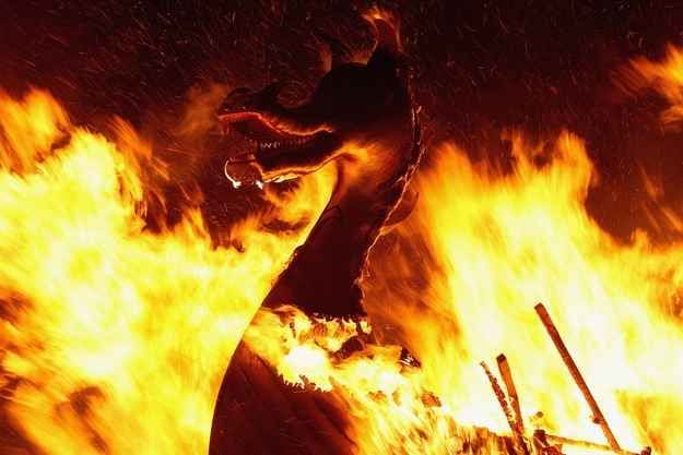 """And in true Viking tradition, the main Up Helly Aa event in Lerwick burns a galley in a playpark, right near the big slide - things Shetlanders know - including """"no fast food  on Shetland"""""""