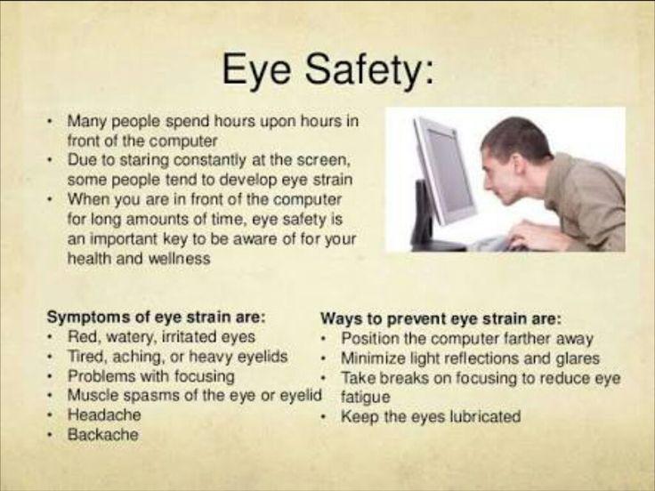 The eye safety