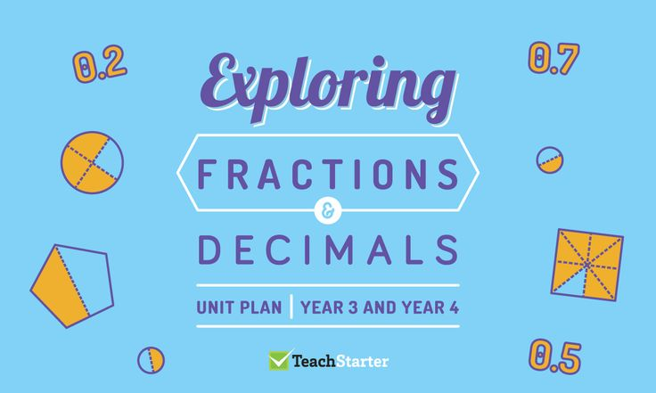 Exploring Fractions and Decimals Unit Plan – Year 3 and Year 4