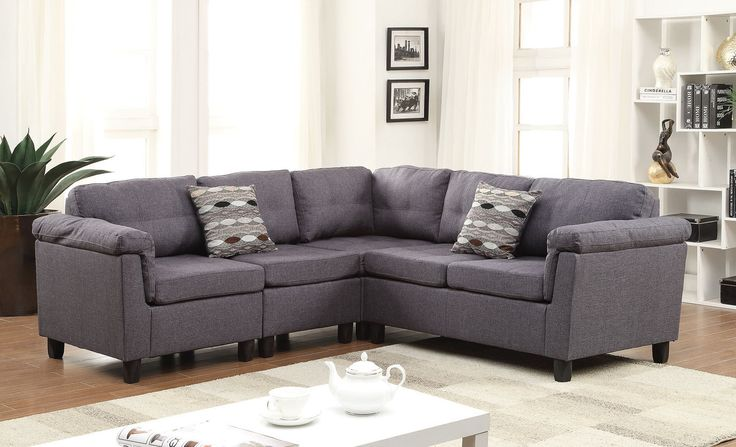 Acme Cleavon Gray Sectional Sofa 51550 For  $524