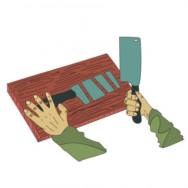 #Cut #slash #sharpest #knife #illustration