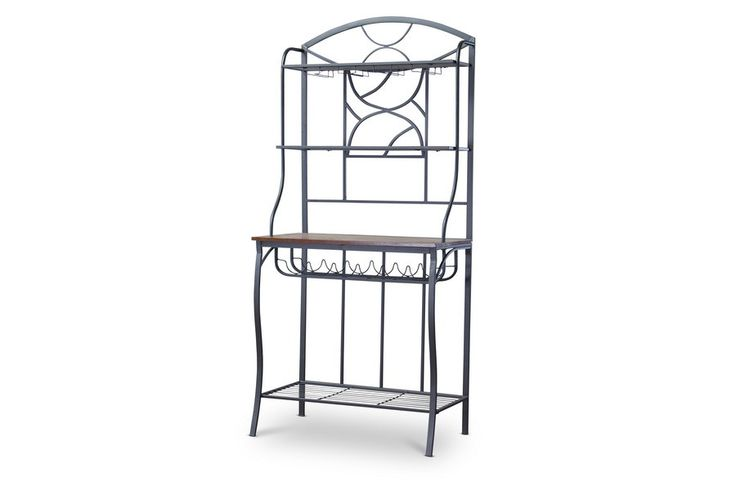 Corsica Wood and Metal Transitional Baker's Rack