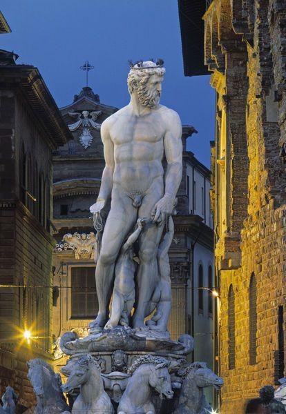 Fontana di Nettuno, Piazza della Signoria, Florence, Italy
