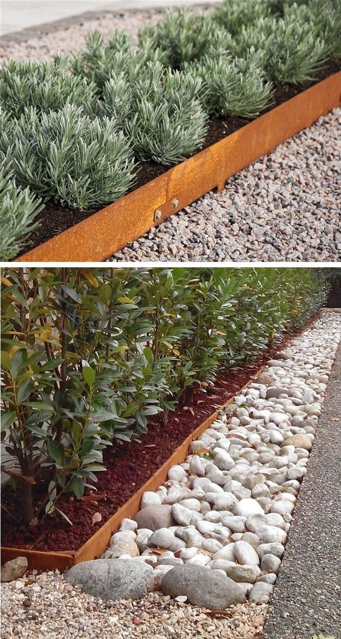 Corten Garden Edging  Large backyard landscaping, Garden edging