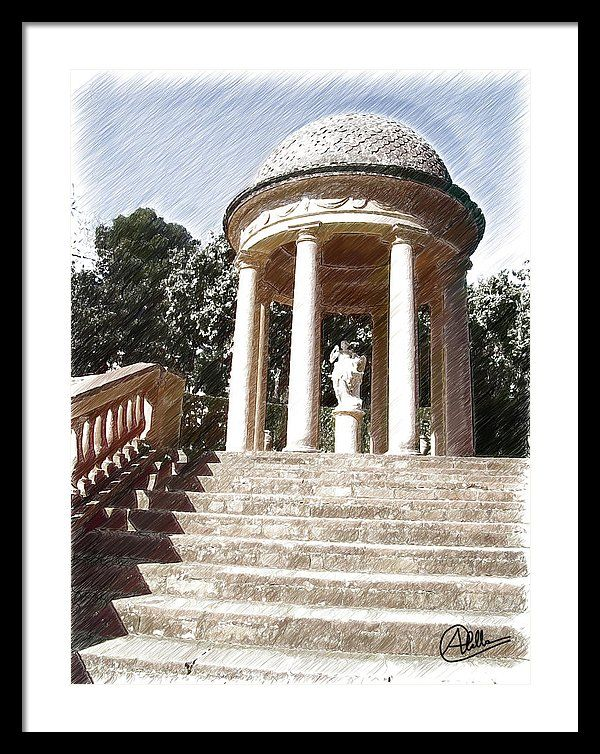 Park Framed Print featuring the painting Parque Del Laberinto De Horta by Joaquin Abella (scheduled via http://www.tailwindapp.com?utm_source=pinterest&utm_medium=twpin&utm_content=post82899883&utm_campaign=scheduler_attribution)