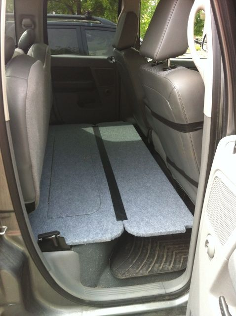Rear seat folding dog platform. - DODGE RAM FORUM - Dodge Truck Forums | Rides | Pinterest ...
