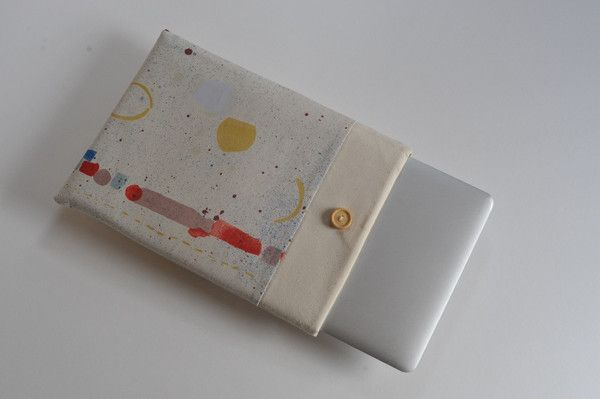 13 inch Laptop Case, Nani Iro: Sound Circle - Animato , MacBook Air Sleeve, MacBook Pro Retina Display Case, Custom Size New MacBook Cover