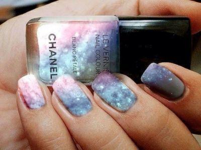Chic Chanel Nails galaxy nails