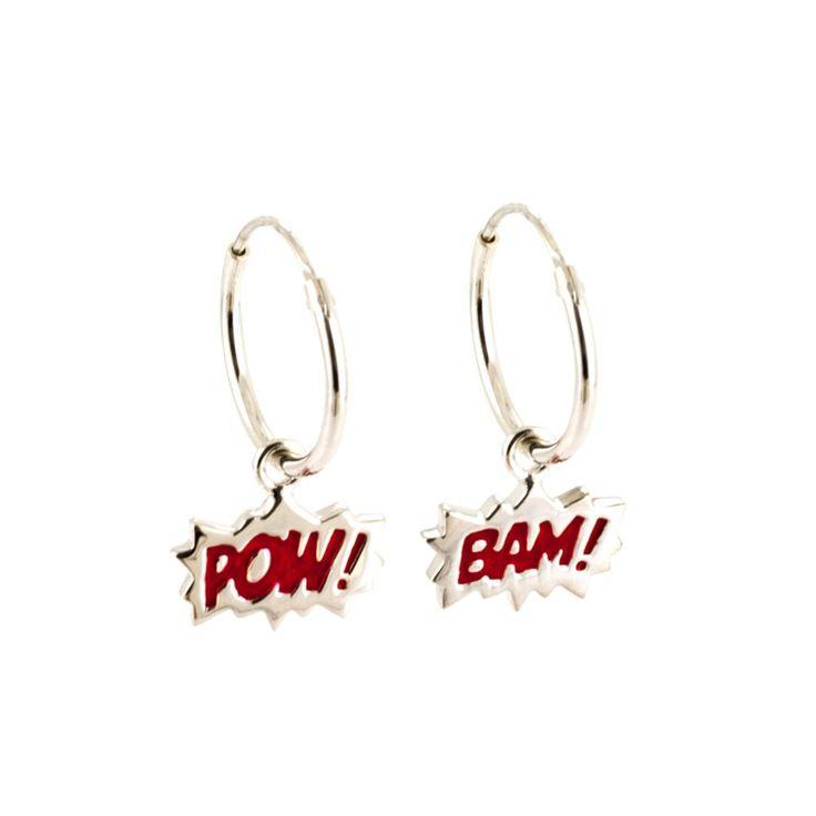 Bam! & Pow! Hoop Earrings | LAURA GRAVESTOCK