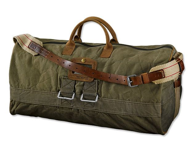 Temple WWII Vintage Duffle Bag | made from reclaimed WWII waxed canvas
