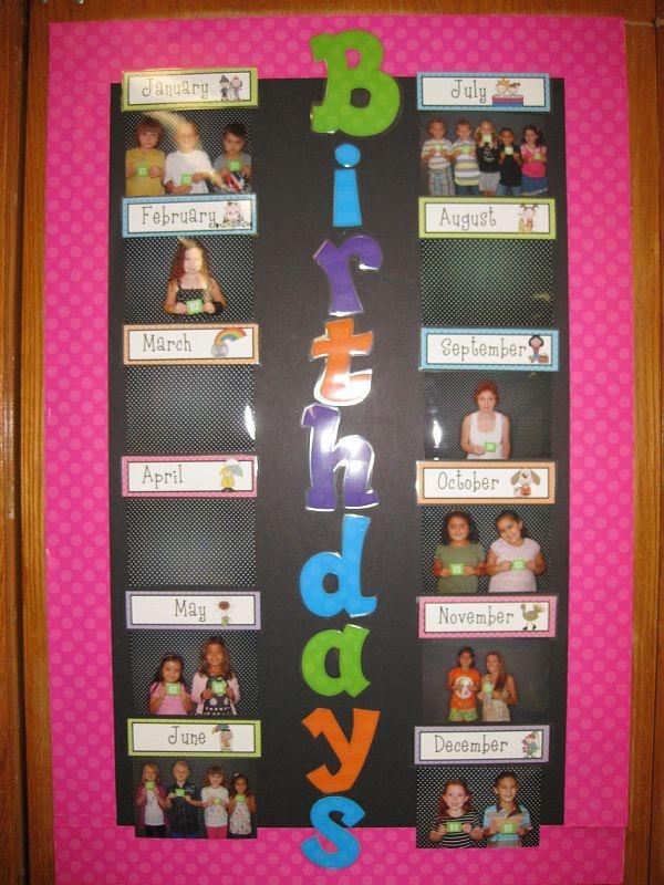 brilliant way to showcase birthdays