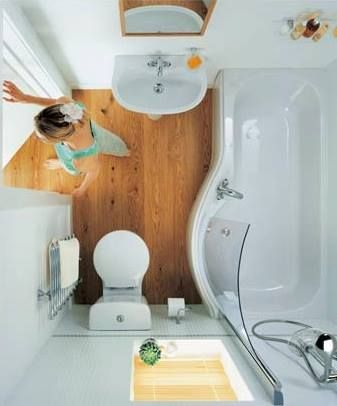 5 Tips for Space Saving & Spacious Feeling Tiny Bathrooms http://tinyhousepins.com/5-tips-for-tiny-bathrooms/