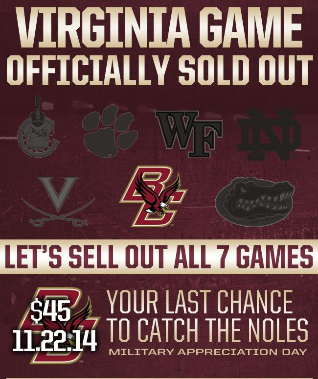 I've got my BC tickets. Do you have yours????GO NOLES!