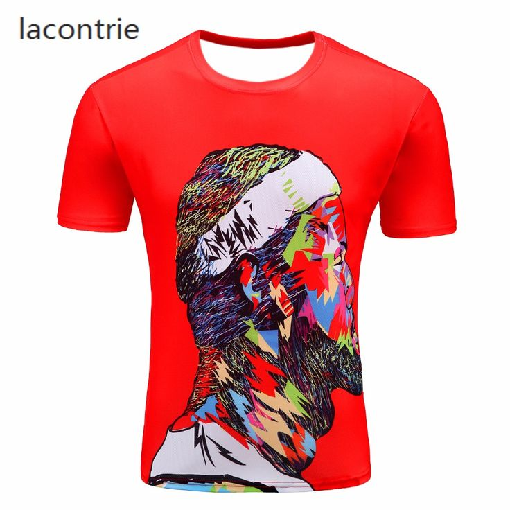 Cavaliers Superstar 3D Print T-shirt LeBron James Side Face Harajuku Street Style Men's Fashion Slim Short Sleeve T Shirt M-4XL