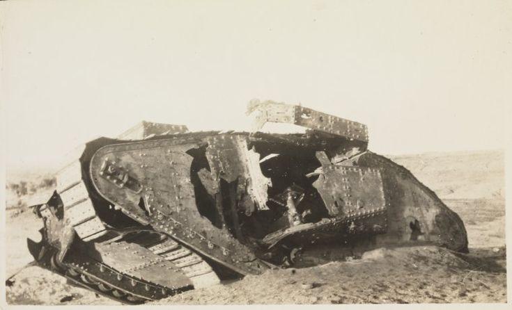 WW 1 - British tank, Gaza.