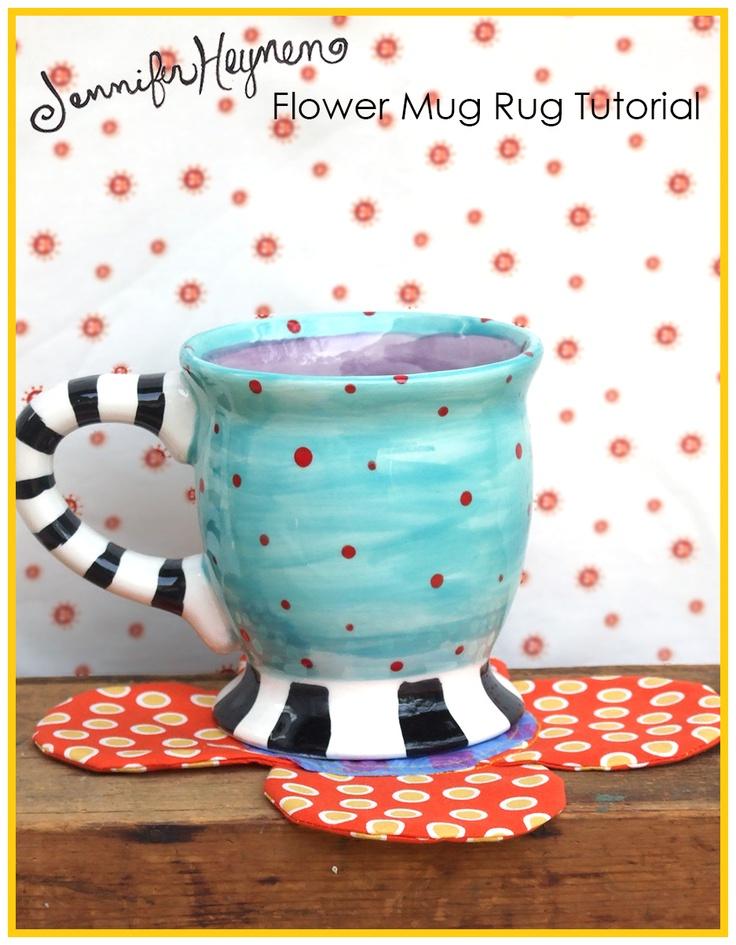 13 besten Mug rugs Bilder auf Pinterest | Topflappen, Stickerei und ...