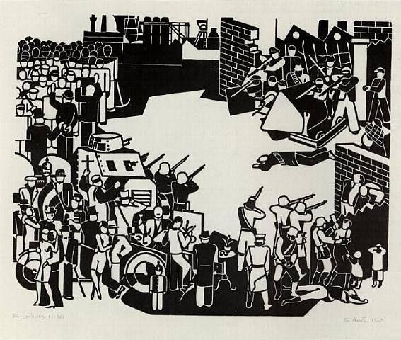 Gerd Arntz, Civil War, 1920s