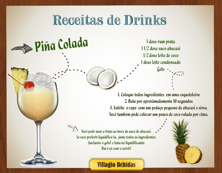 Receitas Drinks - Villagio Bebidas