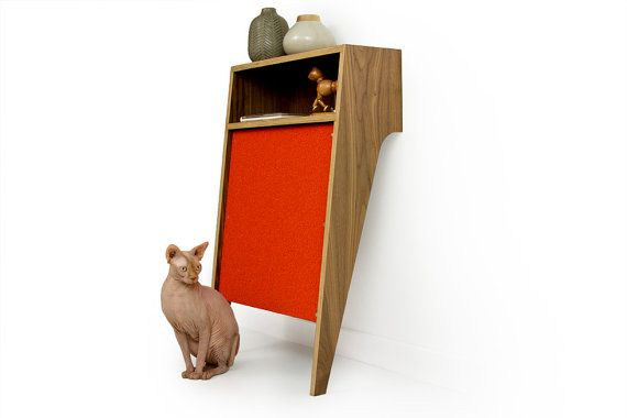 Cat Console // Mid Century Modern Pet Furniture // Cat Scratcher // Console Table on Etsy, $399.00