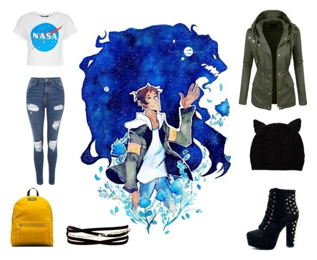 """""""Voltron inspired"""" by isabelle071102 on Polyvore featuring Topshop, Siggi, Dr. Martens, Kenneth Jay Lane and LE3NO"""