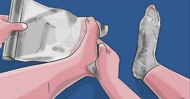 Envuelve Tus Pies En Un Par De Capas De Papel De Aluminio. 1 Hora Más Tarde? INCREÍBLE!…   Salud con Remedios