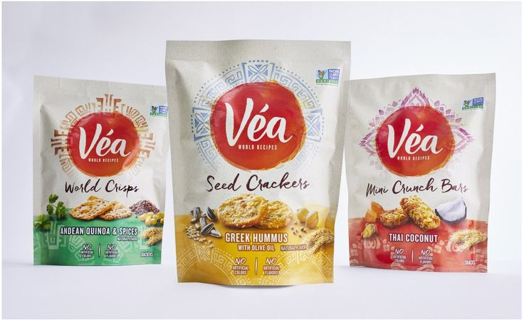 This is not a typical snack; combining ingredients like sweet potato, butternut squash and quinoa and serving them up in inspired global recipes, Véa provides a wholesome snack in bag and carton packaging.