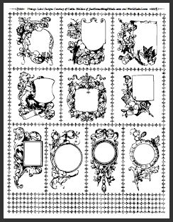 Cathe Holden from justsomethingimade.com has designed a beautiful vintage label set printable on our Full Sheet Labels. The design source is from the 1800s.