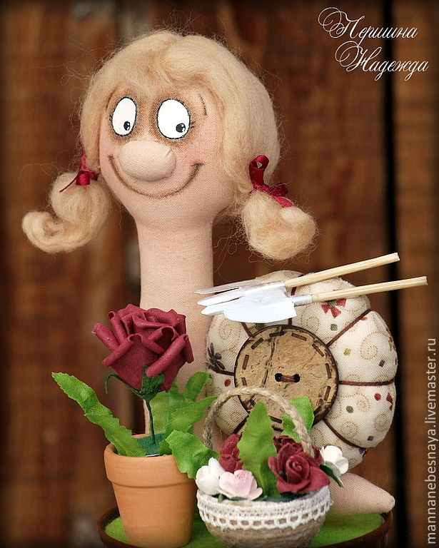 Купить Улиточка Садовница. Талисман для дачника-огородника. - улиточка, садовница, улиточка садовница, огород, талисман