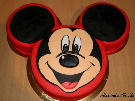 Mickey Mouse D Birthday Cake