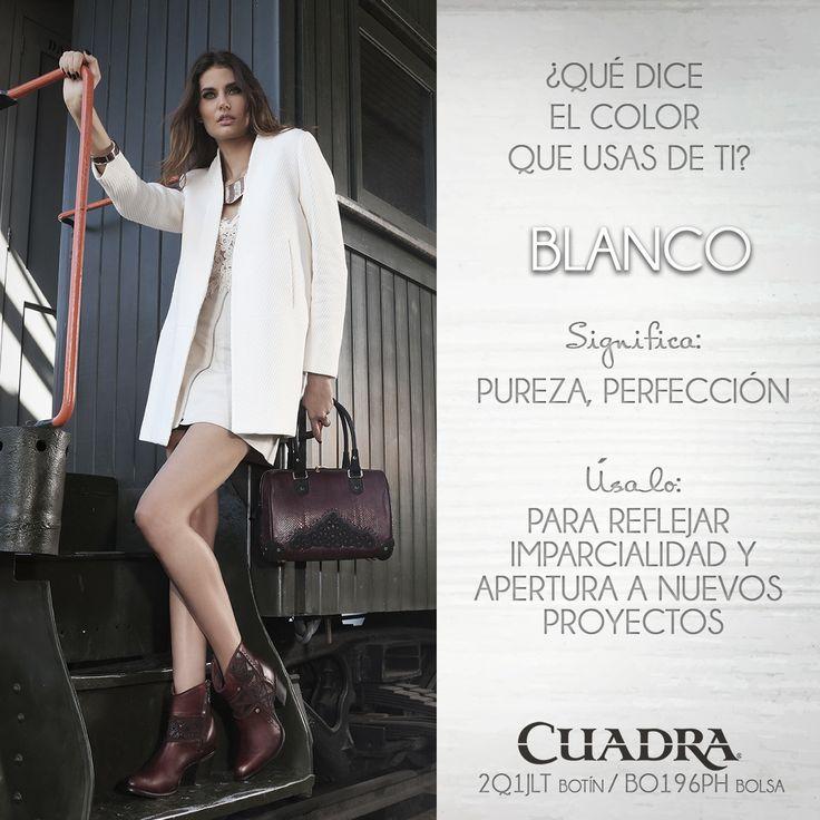 ¿Cuál es el color que va con tu personalidad? #moda#blanco#shoes#botas#cuadra#2016#2017#botas#streetstyle
