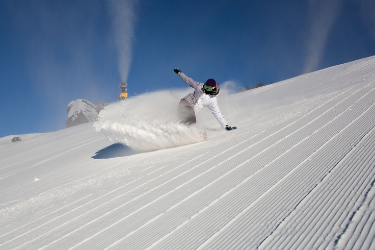 Snow spray on Mt P